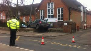 car crashes into primary in kent meridian itv news