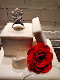 engagement ring box cake topper montreal gâteau de ville