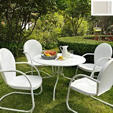 crosley furniture griffith 5 piece white metal frame patio dining set