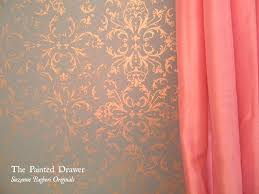 gold stenciled walls provence stenciling and stencils