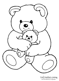 coloring pages teddy bear coloring pages kids