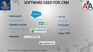 American Airlines Help Desk Crm Strategy Of Singapore U0026amp American Airlines