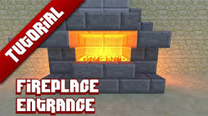 minecraft tutorial hidden fireplace entrance youtube