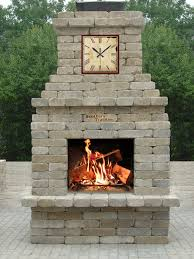 awesome outside fireplace kits home decoration ideas designing top