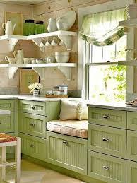 kitchen green backsplash decor with wooden cabinets sets for
