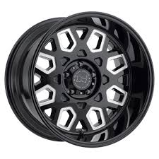 jeep white with black rims black rhino predator wheel in gloss black with milled windows for