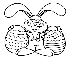 easter bunny coloring page at children books online