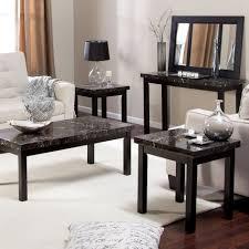 coffee table tarantula brown cherry wood marble coffee table set