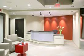 Modern Office Reception Desk Office Reception Area Design Coral Wall Color With