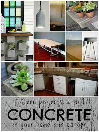 home project ideas diy concrete project ideas remodelaholic