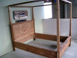 wood canopy bed frame queen strong metal canopy bed frame queen