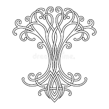 celtic tree of stock vector illustration of nature 107578715