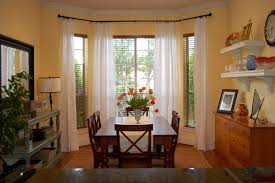 Curtain Crown Molding Decorating Interesting Bay Window Curtain Rods With Bali Blinds