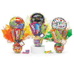 balloon and candy bouquets candy bouquets with tissue paper and balloons all things