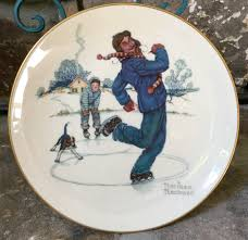 vintage norman rockwell plate 1974 gorham china winter