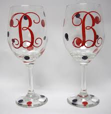 how to personalize a wine glass home accessories remarkable monogrammed wine glasses