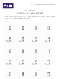 subtraction subtraction worksheets with missing digits free
