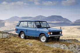 blue land rover land rover range rover 3 door classic