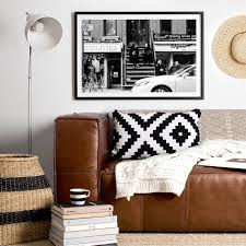 manhattan coffee photo print clair estelle new york street photography framed photo print black and white interior photographic print shop brisbane monochrome