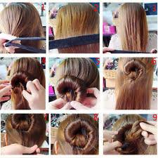 hair bun maker instructiins fabric hair bun makers accessories ebay