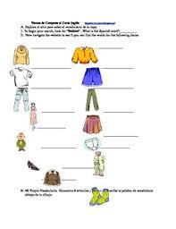 vamos de compras vocabulario de la ropa by mdi spanish teacher