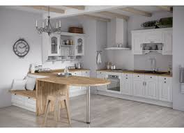 cuisine blanc cérusé element de cuisine blanc idée de modèle de cuisine