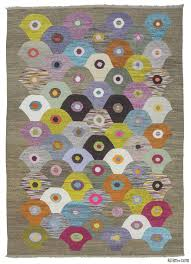 Lilac Rug K0010698 Multicolor Old Yarn Kilim Rug Kilim Rugs Overdyed