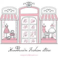 vintage sketch shop window of fashion store vector free download