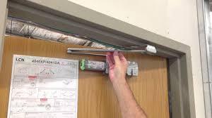Overhead Door Stop by How To Install Lcn 4040xp Closer Youtube