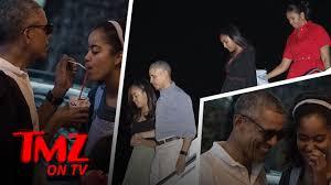 Obama S Vacation Obama And Malia Share Shaved Ice On Family Vacation Tmz Tv Youtube