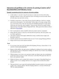 instructions and guidelines to the contractor for painting of