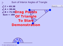 triangle sides interior angles exterior angles degrees and
