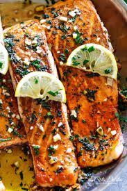 crispy seared lemon garlic herb salmon cafe delites