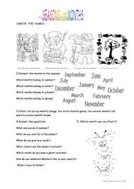 148 free esl months worksheets