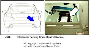 audi a6 the electronic parking brake manually release