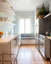 kitchen cabinets galley style beautiful efficient small kitchens traditional home