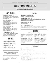 thanksgiving dinner menu template 28 word menu templates gallery for gt restaurant menu