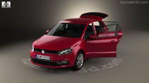 polo volkswagen interior 360 view of volkswagen polo 5 door with hq interior 2014 3d model