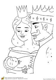 Coloriage du roi de la reine et de la Belle au bois dormant