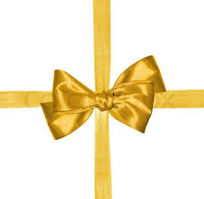ribbon and bows golden ribbon and bow isolated on white background stock photo