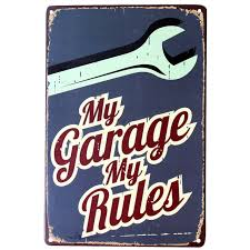 home decor wall plaques my garage rules cool home decoration wall decor wall art wall