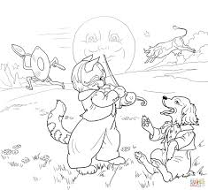 hey diddle diddle the cat and the fiddle coloring page free