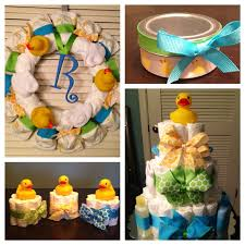 Rubber Ducky Baby Shower Centerpieces by Rubber Ducky Baby Shower Decorations Gift Package Diaper Cake