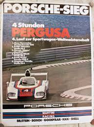 porsche racing poster porsche poster 4 stunden pergusa from 1976 vintage cars