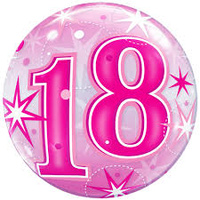 balloons for 18th birthday 22 18th birthday pink sparkly balloon