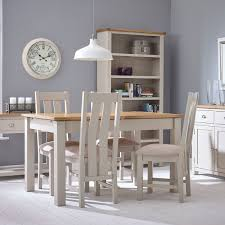 hutch portsmouth stone grey painted extending dining table