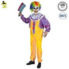 wholesale scary horror costumes man killer clown halloween