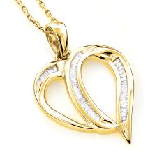 diamond heart gold necklace images Heart pendants 14k gold diamond heart pendant 0 35ct jpg