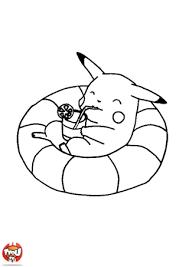 Coloriage Pikachu dans la piscine  Atelier créatif  Pinterest