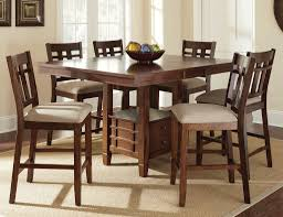 counter table with storage bar height wood dining table dining room ideas